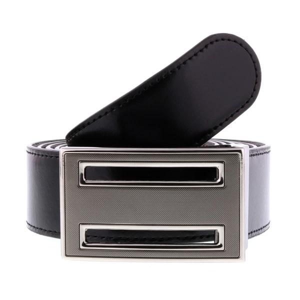 HS Collection HSB 6001 Black/Brown Reversible/Adjustable Mens Belt