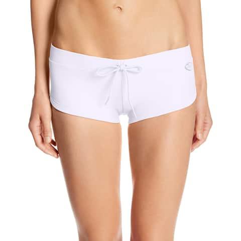 Body Glove White Womens Size Large L Drawstring Boy Shorts Swimwear