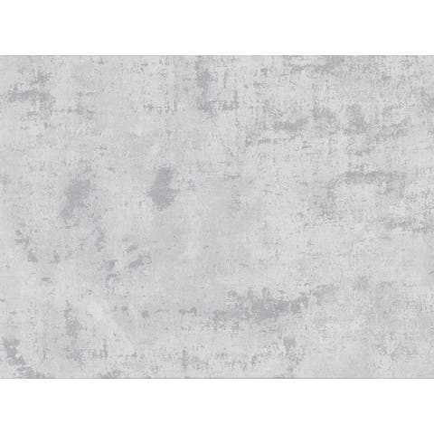 Quimby Grey Faux Concrete Wallpaper - 27.5in x 396in x 0.025in