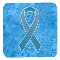 3.5 x 3.5 In. Blue Ribbon for Prostate Cancer Awareness Foam