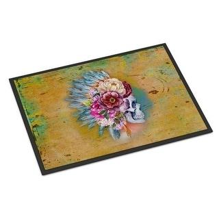 Carolines Treasures BB5129JMAT Day of the Dead Flowers Skull Indoor or Outdoor Mat 24 x 36 in.