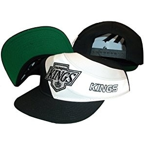 Los Angeles Kings Swirl Snapback Adjustable Plastic Snap Back Hat / Cap