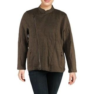 Lauren Ralph Lauren Womens Plus Moto Coat Fall Wool - 3x