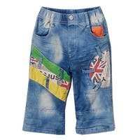 Rock'nStyle Boys Light Blue Colorful Patches Pockets Denim Pants