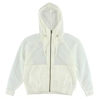 Reebok Womens Studio Faves Dye or Die Jacket White