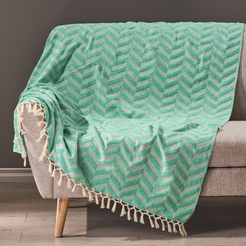 Bervy Hand-Loomed Throw Blanket by Christopher Knight Home