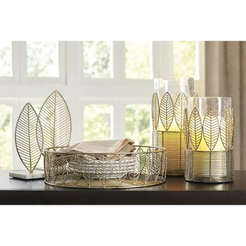 Dimity Contemporary Gold Finish Accessory Set - Set of 5 - Dimensions Vary