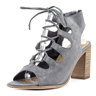 Steve Madden Nilunda Women Open Toe Suede Gray Sandals