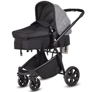 Link to Costway 2 in 1 Folding Aluminum Baby Stroller Buggy Newborn Travel Similar Items in Strollers