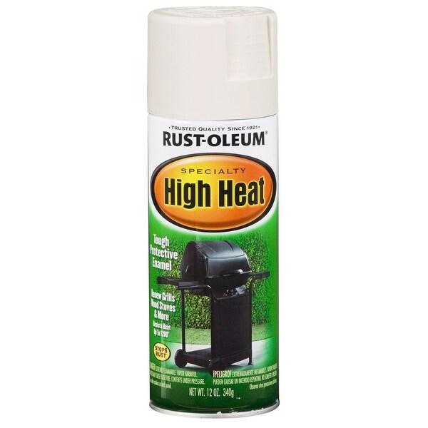 Rust Oleum 7751830 High Heat Spray Paint, White, 12 Oz.