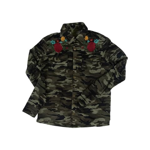 Cowgirl Tuff Western Shirt Womens L/S Floral Button Camo