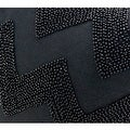 "G Home Collection Luxury Black Chevron Embroidered With Bead Pillow 12""X20"" - Thumbnail 3"