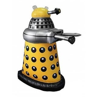 """Doctor Who Small Inflatable 30"""" Desk Yellow Dalek"""