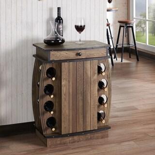 Carbon Loft Avital Rustic Reclaimed Oak Finish Multi-storage Bar Cabinet