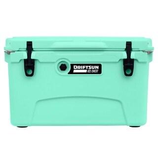 Driftsun 45 Quart Ice Chest / Heavy Duty Cooler / High Performance Commercial Grade Insulation (Seafoam)