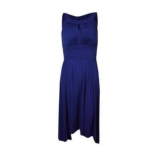 Sangria Women's Hi-Lo Sleeveless Keyhole Dress