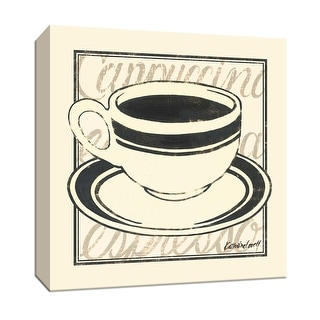 """PTM Images 9-151933  PTM Canvas Collection 12"""" x 12"""" - """"Black Coffee"""" Giclee Food and Beverage Textual Art Print on Canvas"""