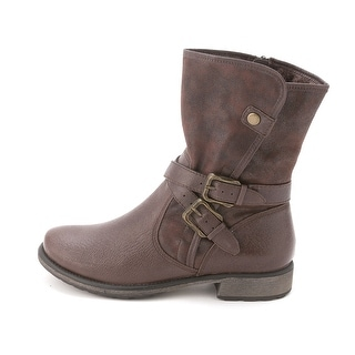 New BareTraps Women's Sabella Mid-Calf Moto Boot