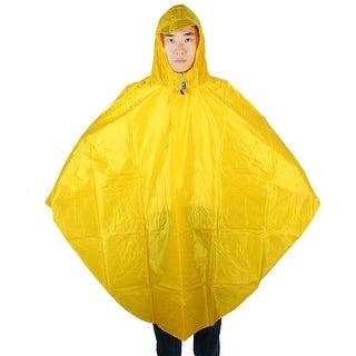 Motorcycle Riding Hooded Rainwear Bicycle Cycling Raincoat Rain Poncho Yellow