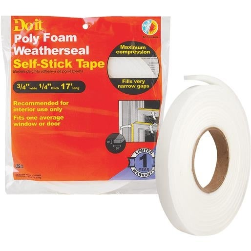 Thermwell Products Co. 3/4X1/4X17 Weather Strip L342HDI Unit: EACH