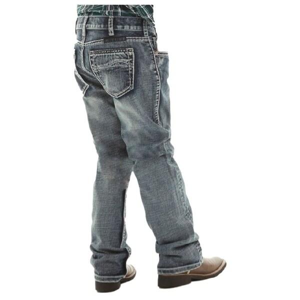 B. Tuff Western Denim Jeans Boys Steel Bootcut Med Wash