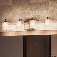 "Luxury Modern Bathroom Vanity Light, 6""H x 29""W, with Posh Style, Brushed Nickel Finish"