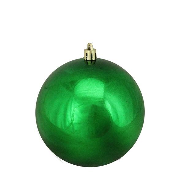 "Xmas Green Shatterproof Shiny Christmas Ball Ornament 4"" (100mm)"