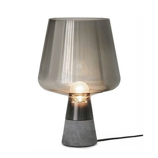 Link to Dani Cement Table Lamp, Concrete Base with Smoked Glass Shade Similar Items in Table Lamps