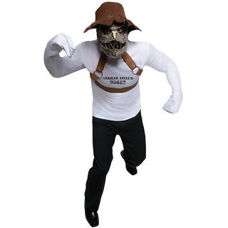Rubies DC Scarecrow Adult Costume - Brown/White - Standard