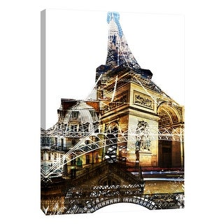 "PTM Images 9-109024  PTM Canvas Collection 10"" x 8"" - ""Paris Spirit"" Giclee Eiffel Tower Art Print on Canvas"