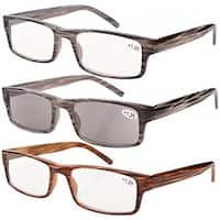 Eyekepper Spring Hinge Reading Glasses (3 Pairs) +0.5