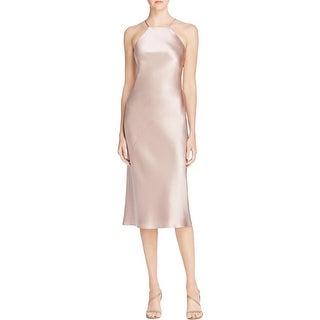 ABS by Allen Schwartz Womens Slip Dress Satin Midi Calf