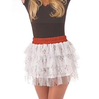 DC Comics Harley Quinn Tutu Costume Skirt Adult Standard - White