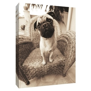 """PTM Images 9-154953  PTM Canvas Collection 10"""" x 8"""" - """"Wonder"""" Giclee Dogs Art Print on Canvas"""