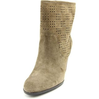Enzo Angiolini Gett Up Women Round Toe Suede Brown Ankle Boot