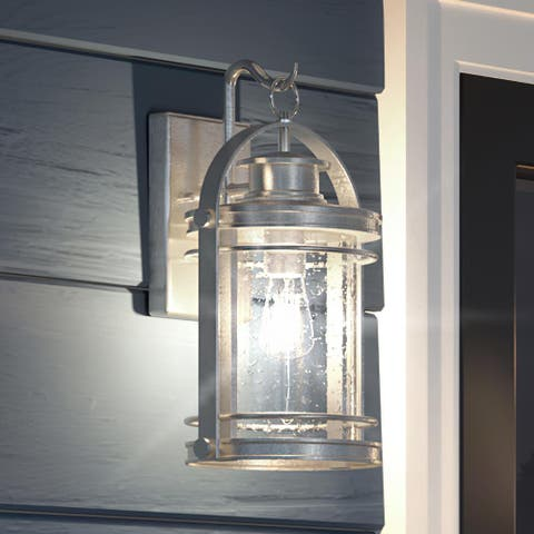 """Luxury Nautical Outdoor Wall Light, 15""""H x 9""""W, with American Bunglalow Style, Urban Aluminum, UQL1443 by Urban Ambiance"""