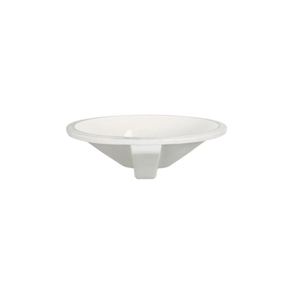 """DecoLav 1412 Mayah 16-5/16"""" Oval Undermount Vitreous China Lavatory Sink with Overflow"""
