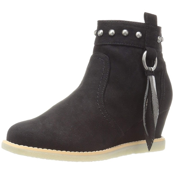 1a76c70e4d57 Dolce Vita Girls Pally Suede Ankle Zipper Wedge Boots - 11 m us little kid