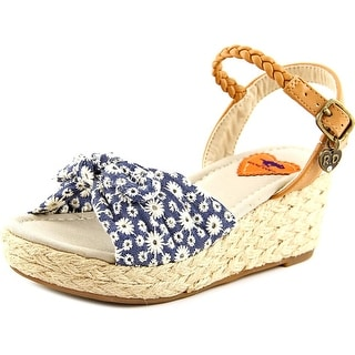 Rocket Dog Lainee Youth Open-Toe Canvas Blue Espadrille