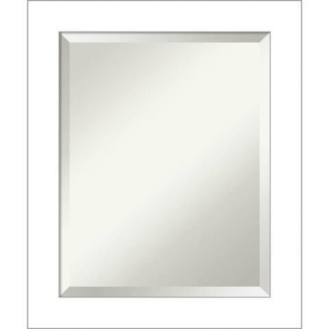 Wedge White Bathroom Vanity Wall Mirror