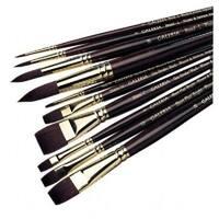 Winsor & Newton 5736002 Flat Long Handle Brush - Size 2