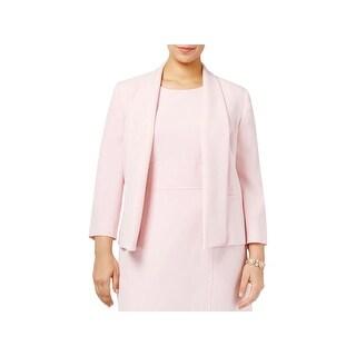 Kasper Womens Open-Front Blazer Shawl-Collar Pockets (3 options available)