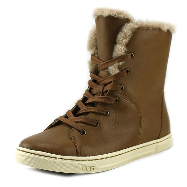 UGG Croft Luxe Quilt Round Toe Leather Winter Boot