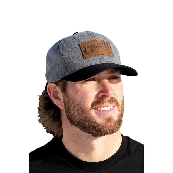 4d64df0b8fa39 Shop Cinch Western Hat Men Embossed Logo Patch Baseball Cap Gray ...
