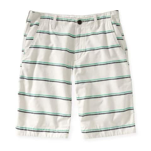 Aeropostale Mens Striped Longer Length Casual Bermuda Shorts