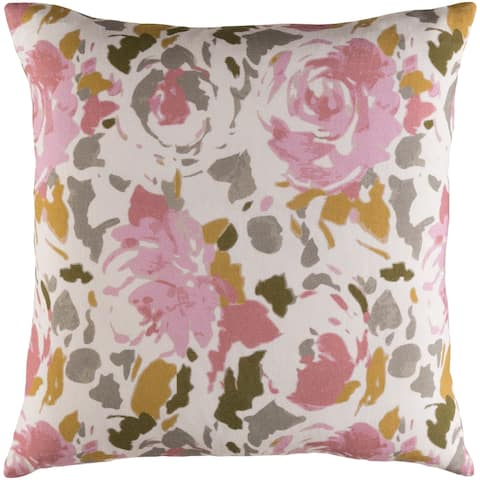 Decorative Sain Pale Pink 20-inch Throw Pillow Cover