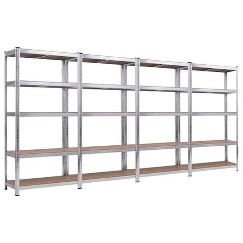 Costway 71'' Heavy Duty Storage Shelf Steel Metal Garage Rack 5 Level