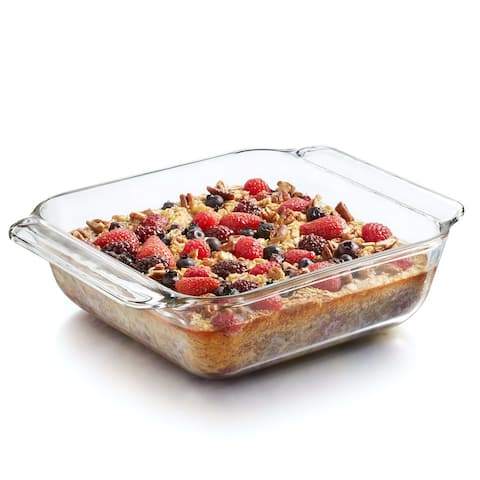 Libbey Baker's Premium Square Glass Casserole Bake Dish, 8-inch by 8-inch