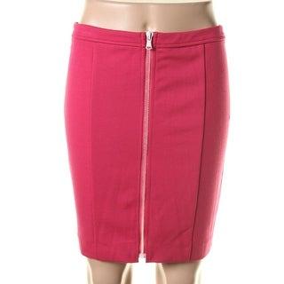 Catherine Malandrino Womens Ponte Knee-Length Straight Skirt - 4