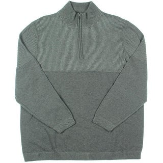 Alex Stevens Mens 1/4 Zip Heathered Pullover Sweater - XXL